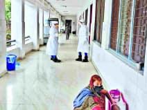 पीएमसीएच के आइसोलेशन वार्ड में मंगलवार की देर रात पंडारक से आए दस संदिग्ध मरीजों से हड़कंप मच गया।