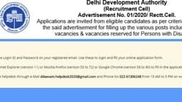 dda recruitment 2020