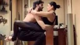 sushmita sen and rohman shawl amazing work out pictures