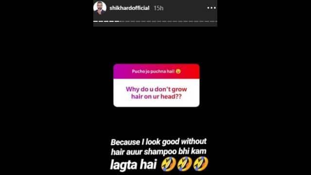 shikhar dhawan insta story