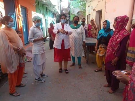 महिला स्वास्थ्य कर्मी दीपा जोशी का किया स्वागत