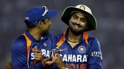 harbhajan singh  r  with virender sehwag during an odi against australia  getty images