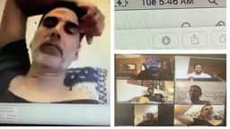 akshay kumar discusses script with bell bottom team in the morning via video conferencing