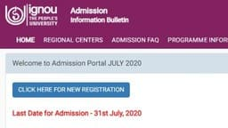ignou admission 2020  ignouadmission samarth edu in