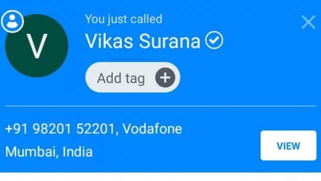 true caller screenshot