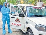special ambulance for corona infected policemen