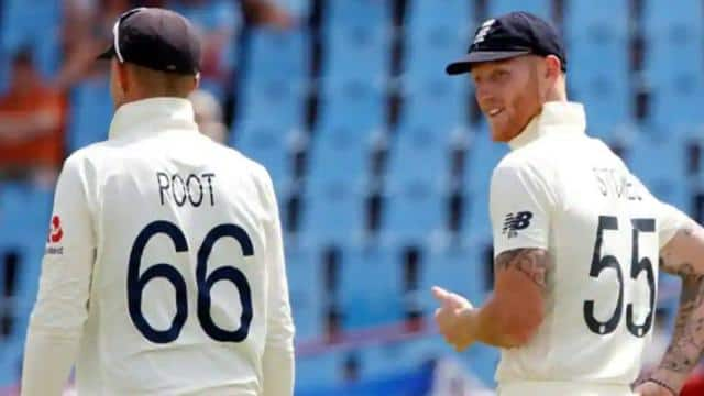 joe root and ben stokes while fielding at slips for england  reuters
