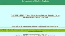 mpbse hsc result 2020