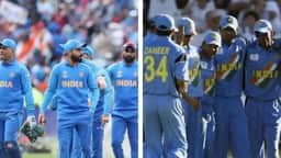 file image of indian cricket team at 2019 world cup and 2003 world cup  ap afp ht   collage