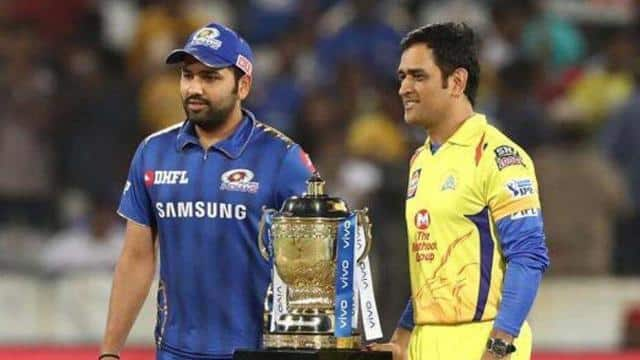 rohit sharma  ms dhoni with ipl trophy  getty images