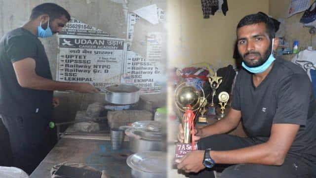 सड़क किनारे चाय बेचने वाले नेशनल फुटबॉलर अविनाश को मिलेगी नौकरी, डीएम ने किया ऐलान