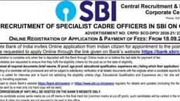 sbi so recruitment 2020