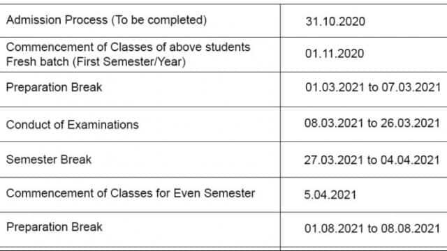ugc approves academic calendar guideline