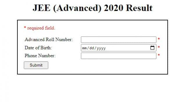jee advanced result declared