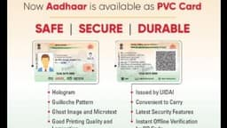 you can now order the all-new aadhaar pvc card  which is durable  looks attractive  and has the late