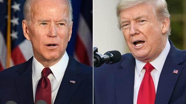 US President Donald Trump and Democratic Presidential candidate Joe Biden (File Pic)