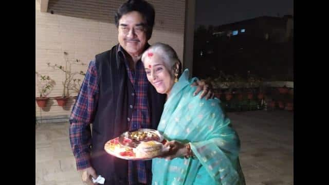 shatrughan sinha s wife poonam sinha also observed karva chauth s fast