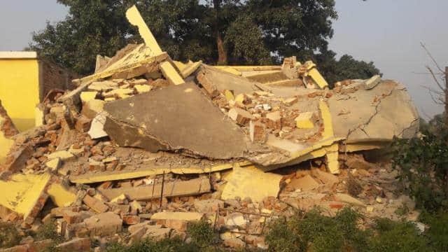naxalites in bihar  naxalites in gaya  naxalite attack in gaya  naxalites blow up community building