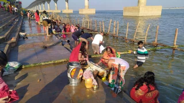 chhath puja 2020  chhath puja  preparation of chhath puja in bihar  chhath puja ghats in patna  biha