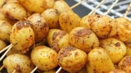 grilled potato kebabs recipe