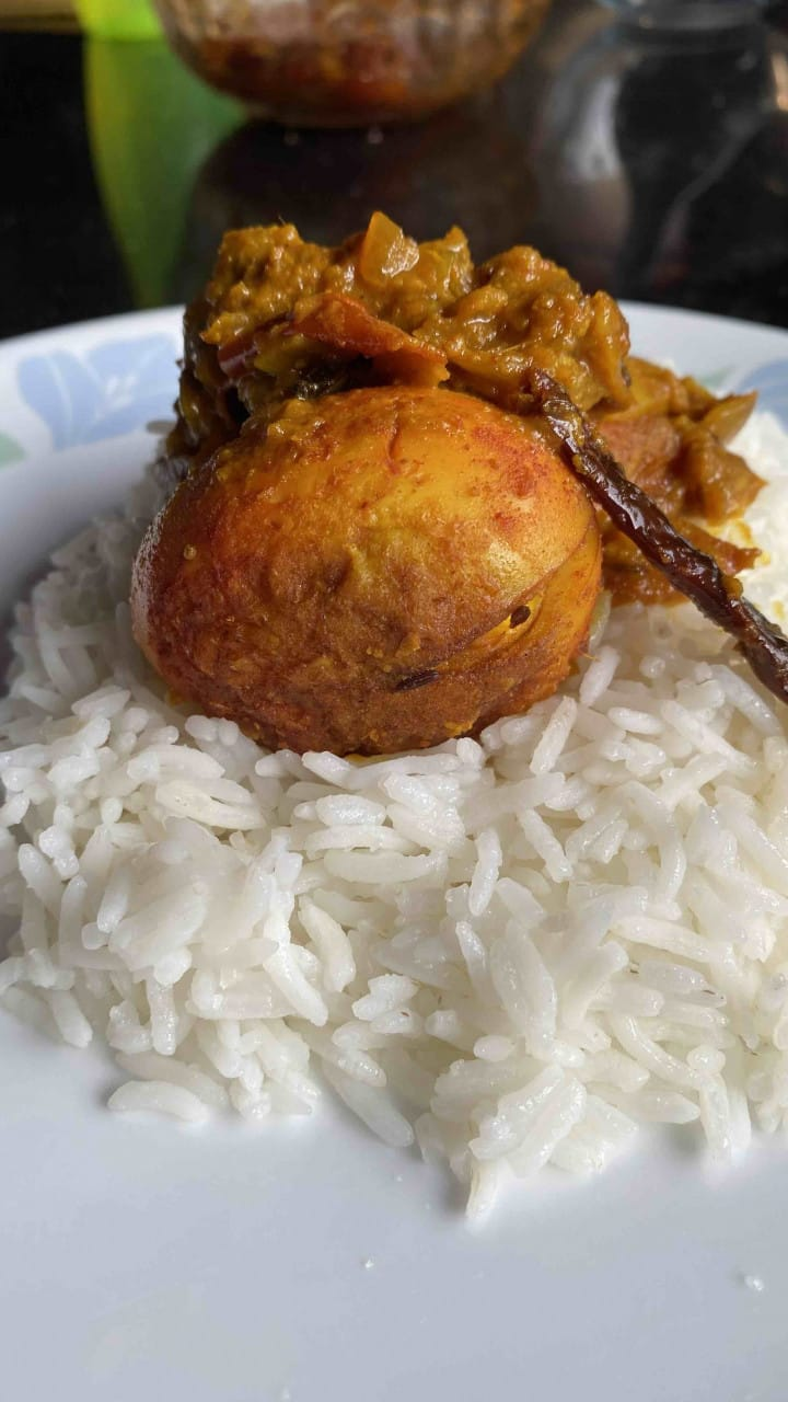 dhaba-style spicy egg curry