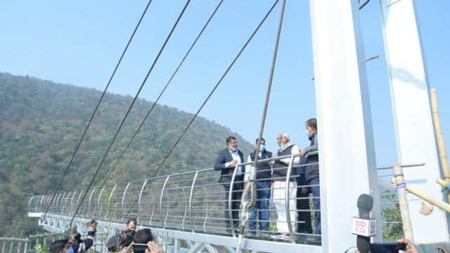 bihar glass bridge at rajgir