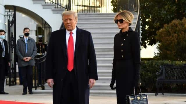 donald trump with melania trump leave white house   afp 20 jan 2021