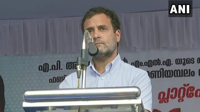 kerala  congress leader rahul gandhi attack centra govt says railways are a fundamental part of our