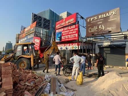 डीटीपी ने सरस्वती कुंज में 20 मकानों को सील किया