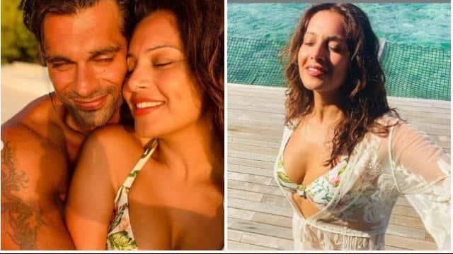 bipasha basu and karan singh grover maldives romantic vacation pictures and video goes viral on soci