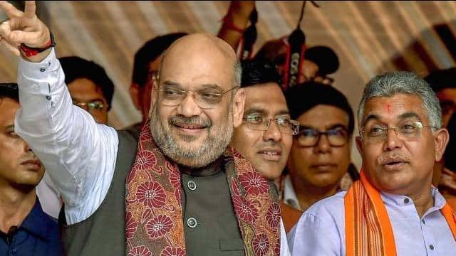 dilip ghosh with amit shah