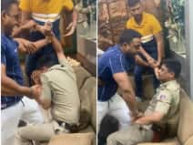 दिल्ली में एक नेता ने पुलिसकर्मी को बेरहमी से पीटा, देखें वीडियो