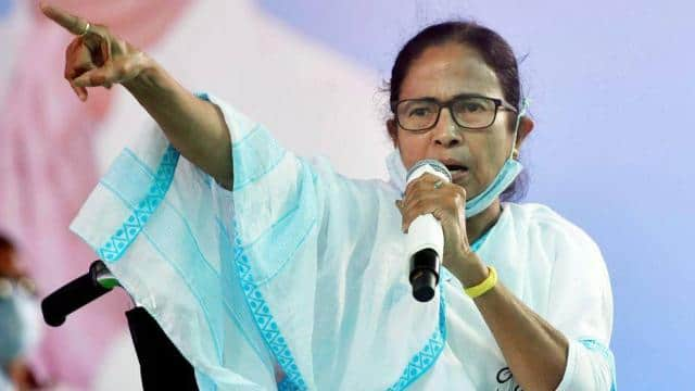 west bengal chief minister mamata banerjee addresses an election rally  in noapara on friday   ani p
