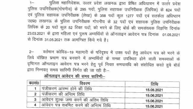 uppbpb up police si asi recruitment 2021