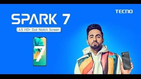 spark 7 screen