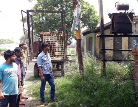 भड़ल गांव के पानी को निरपुड़ा रजवाहे में डालने के विरोध में ग्रामीणों का हंगामा