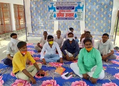 बहावलपुर में पानी समस्या को लेकर अनशन पर बैठे सभासद