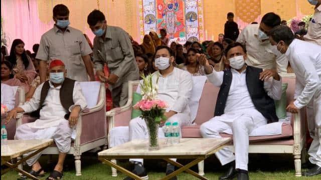 मुलायम सिंह यादव की नातिन की शादी में पहुंचे यूपी-बिहार के कई नेता