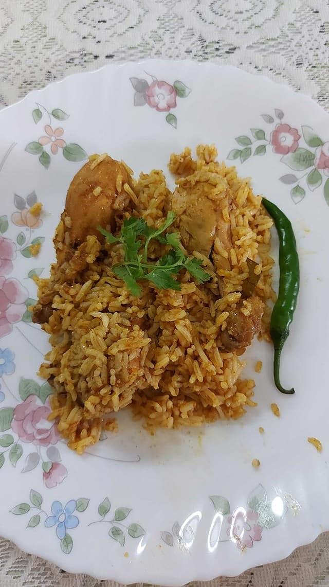home-style chicken biryani