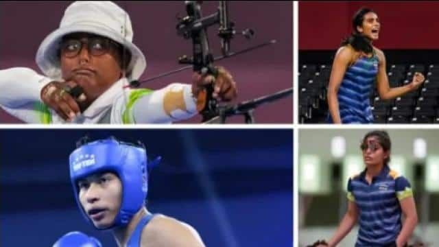 Indian Athletes action in Tokyo olympics