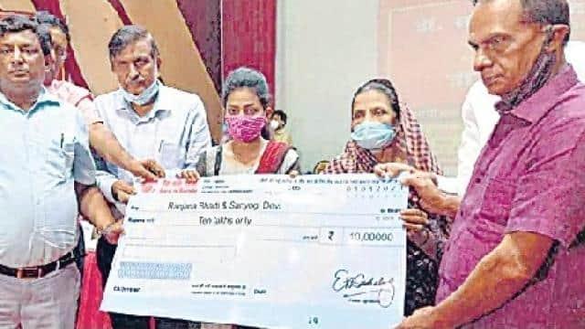 दरभंगा : कोरोना की भेंट चढ़े डॉक्टरों के परिवार वालों को मिली 50 लाख रुपये की सहायता राशि