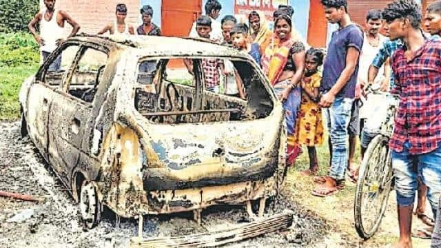 समस्तीपुर में बवाल : जमीन कब्जा करने आए बदमाश ने की फायरिंग,ग्रामीणों ने खदेड़ा