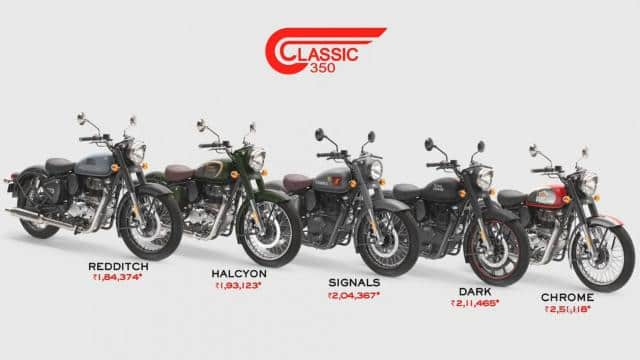 2021 royal enfield classic 350 price list