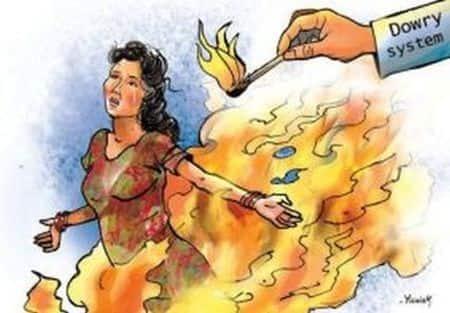 दहेज की मांग को लेकर विवाहिता को घर से निकाला