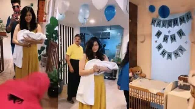 Video: बेटे संग घर लौटीं किश्वर मर्चेंट का हुआ ग्रैंड वेलकम, बेबी को देखकर खुश हुआ परिवार