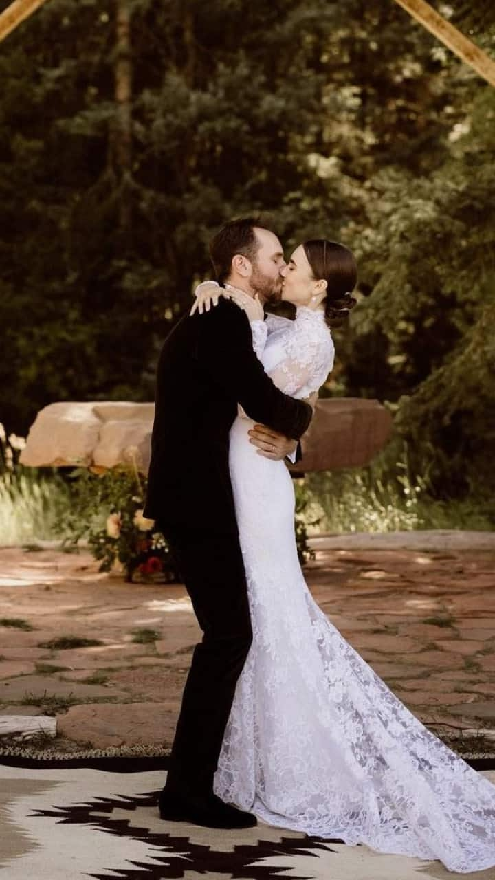 lily collin s wedding pictures