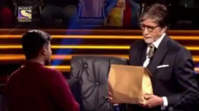 केबीसी 13: खाना डिलिवर करने वाले कंटेस्टेंट के लिए अमिताभ बच्चन बने  डिलिवरी मैन, वीडियो कर देगा इमोशनल