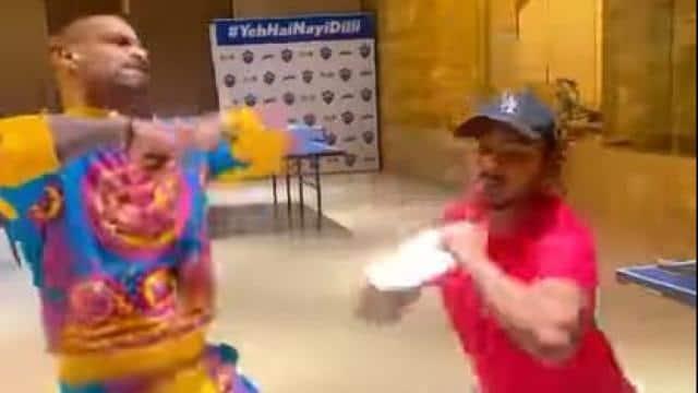 IPL 2021: आईपीएल आते ही फिर छाई शिखर धवन और पृथ्वी शॉ की जोड़ी, सास-बहु वाला डांस हुआ वायरल- VIDEO
